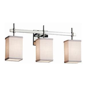 Grid with Clear Bubbles LED Polished Chrome Union 4-Light Bath Bar Square w//Flat Rim Shade Justice Design Group Lighting WGL-8414-15-GRCB-CROM-LED4-2800 Wire Glass