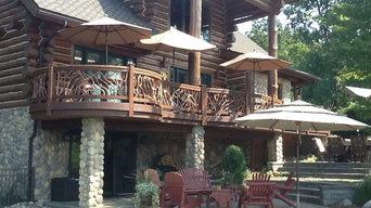 Best Log Home Railing