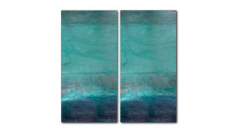 Oversized Abstract 2-Piece Canvas Wall Art