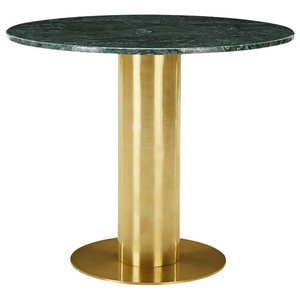Tube Table, 900 mm, Green Marble