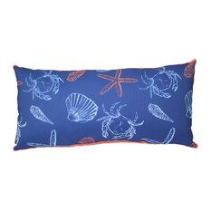 """Sea Sketch Indoor/Outdoor Pillow, 12""""x24"""""""
