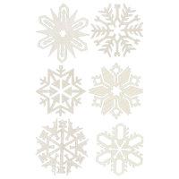 "Richard Glaesser Assorted Snowflakes Ornaments - 0.75""H x 2.875""W x 2.875""D"