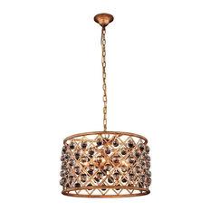 Elegant Lighting Madison 6-Light Pendant, Golden Iron
