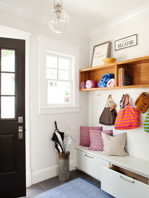 Small entryway storage design ideas, remodels & photos