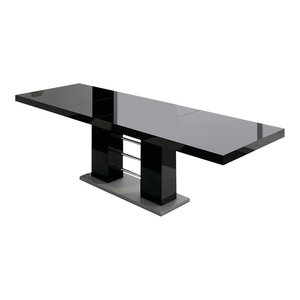 Linosa Extendable Dining Table, Black
