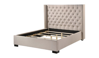 Newport King Wingback Tufted Upholstered Bed