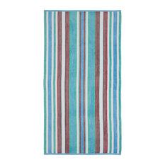 Cotton Rope Textured (set of 2) Oversized Beach Towel - Aqua