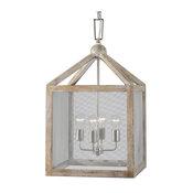Uttermost Nashua 4 Light Wooden Lantern Pendant
