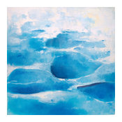 Abstract Blue Reefs I Oil Painting