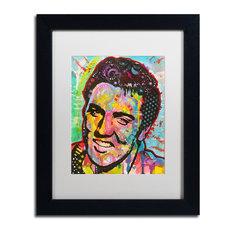 """Dean Russo 'Elvis' Framed Art, Black Frame, 11""""x14"""", White Matte"""