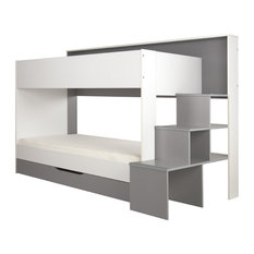 Teotea Bunk Bed, White and Grey, Euro Single