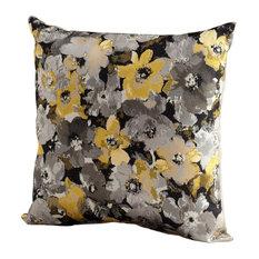 Cyan Design Field Of Flowers Pillow, Gray & Gold