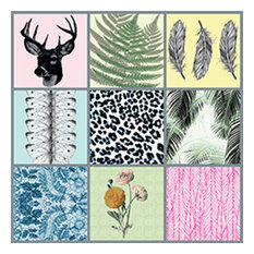Dims Patterned Tile Stickers, Opaque, Set of 9