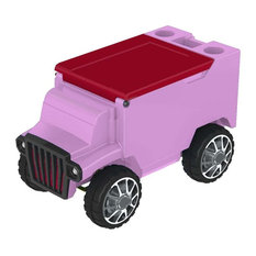 Truck Remote Control Cooler With Bluetooth, Hot Pink/Red