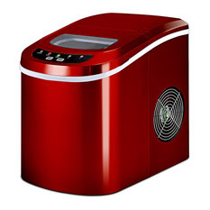 Costway Red Portable Compact Electric Ice Maker Machine Mini Cube 26lb/Day