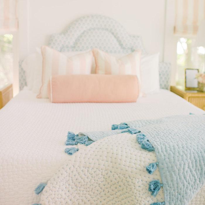 Laura Boyd Interior Design | Old Village Charleston Pool House Bedroom