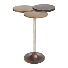 Zuo Modern 405006 Dundee 18-inchW Aluminum Accent Table - Brass