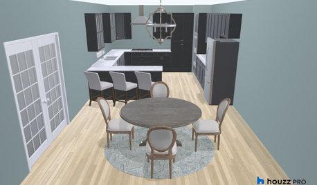 Houzz Pro Contest Winner's 3D Kitchen Design Really Pops