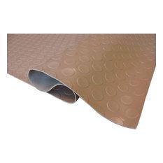 Coin Pattern Nitro Garage Flooring Rolls Floor Mats, Sahara Sand, 7.5'x17'