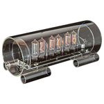 Cold War Creations - Glass Nixie Clock - Large Glass Clock #3 IN-8-2 - special version of the Large size Glass Nixie clock.
