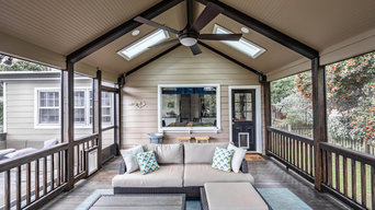 Screened Porch with Masonry Fire Place and Skylights