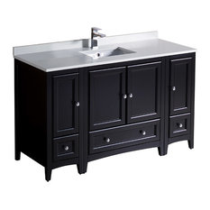 "Fresca Oxford 54"" Espresso Traditional Cabinets With Top and Sink"