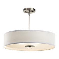 50 most popular rustic drum pendant lights for 2018 houzz kichler signature 3 light pendants brushed nickel pendant lighting aloadofball Images