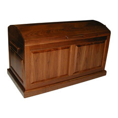 Wood'N-U - Raised Panel Trunk, Walnut - Accent Chests and Cabinets