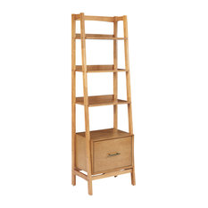 Crosley Landon Bookcase, Acorn