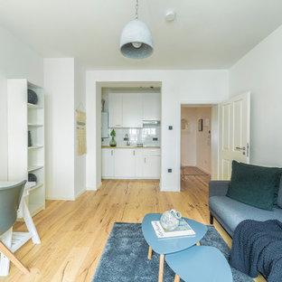 Mittelgroße Skandinavische Wohnidee in Düsseldorf