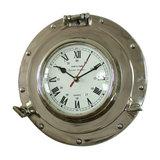 Silver Metal Nautical Porthole Wall Clock