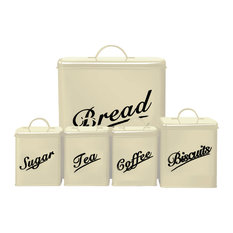 Chef Vida 5-Piece Canister Set, Cream