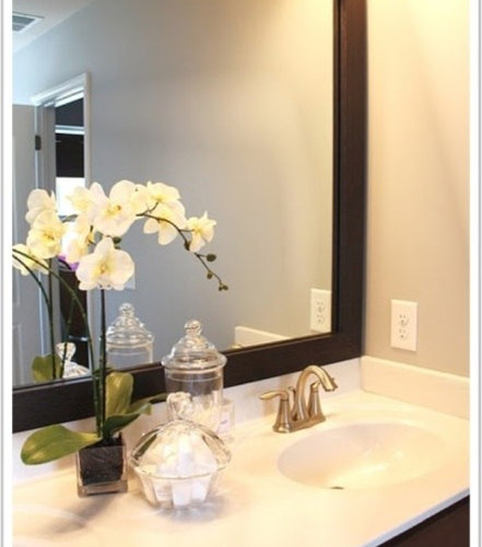 houzz bathroom mirrors framed bathroom mirror houzz 13176