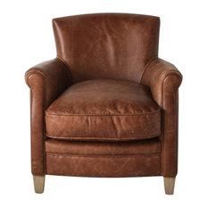 Remington Leather Lounge Chair, Vintage Brown