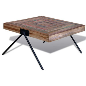 VidaXL Coffee Table With V-Shaped Legs in Reclaimed Teak