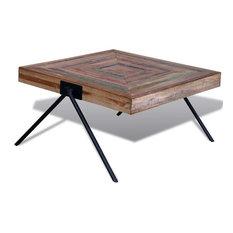 vidaXL - VidaXL Coffee Table With V-Shaped Legs in Reclaimed Teak - Coffee Tables