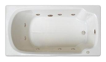 "Pinnacle Bath, 60""x32"", Drop-In Whirlpool Tub, Left Drain"