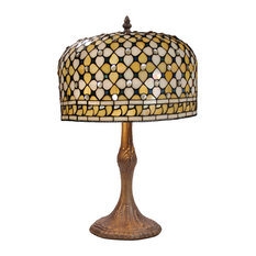 Queen Series Large Table Lamp With Carved Base