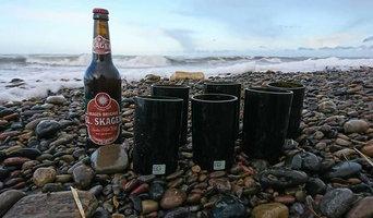 Brugskunst glas med mange anvendelses muligheder reuse af gamle rødvins flasker