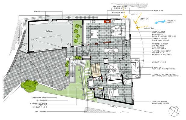 Trendy Grund- og landskabsplan by justin long design