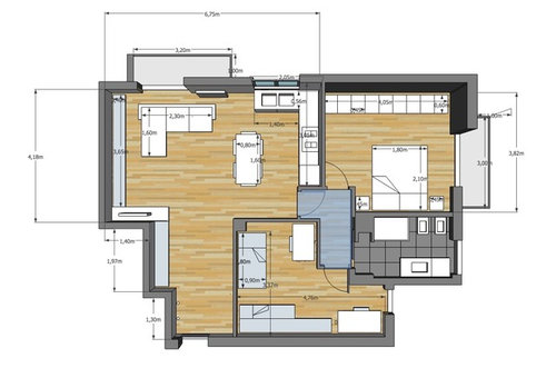 Idea per soggiorno e cucina di 40 mq for Arredare cameretta 7 mq