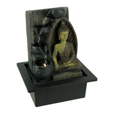 Buddha Touching the Earth LED Lighted Tabletop Fountain