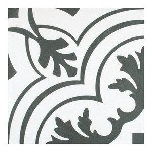 """7.75""""x7.75"""" Thirties Ceramic Floor/Wall Tiles, Vintage"""
