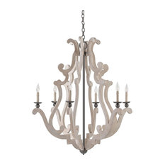 Traditional Durand Chandelier 6-Light in Old Iron