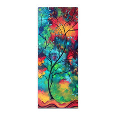 Landscape Painting 'Colored Inspiration', Abstract Tree Art on Acrylic