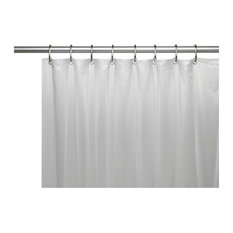 Carnation Home Fashions - Mildew-Resistant 10 Gauge Shower Curtain Liner With Metal Grommets, Frosty Clear - Shower Curtains