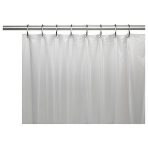 Mildew Resistant 10 Gauge Shower Curtain Liner With Metal Grommets Frosty Clear
