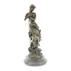 Dreaming By Auguste Moreau Art Deco Nouveau Elegant Classic Woman Bronze Statue