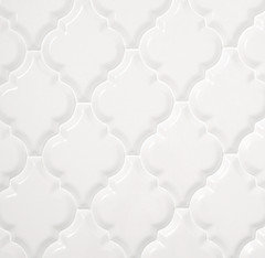 12 50 A Square Foot Whisper White Beveled Arabesque Tile And Free Shipping