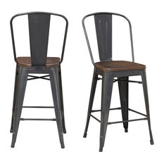Picket House Furnishings Logan Bar Stool Set In Gray